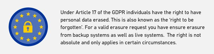 GDPR Data Subject Rights