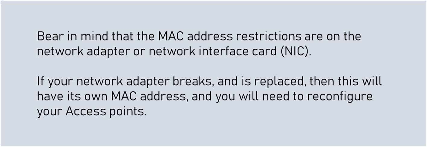 wireless security mac filtering
